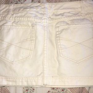 Aeropostale White Jean Skirt